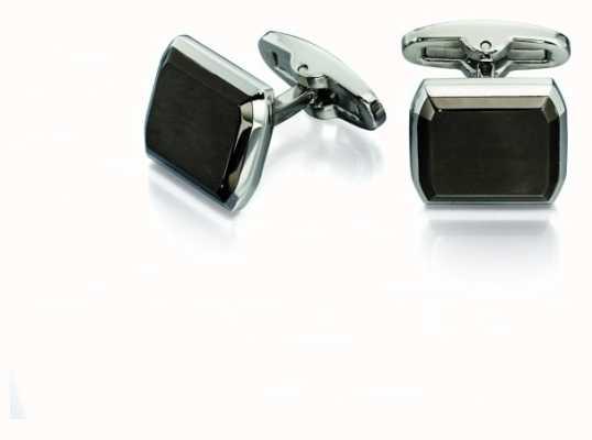 Fred Bennett Mens Gunmetal Polished Stainless Steel Cuff Links V518