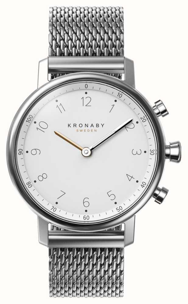 Kronaby 38mm NORD Bluetooth Steel Mesh Bracelet Smartwatch