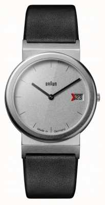 Braun Classic 1989 Tribute Design Black Leather Strap Grey AW50