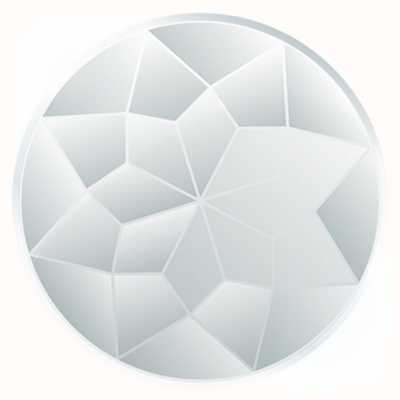 "MY iMenso ""FACETED GLASS"" INSIGNIA 33MM 33-1138"