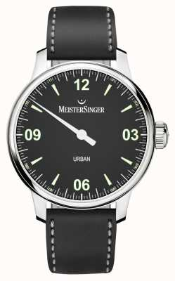MeisterSinger Urban Mens Black Dial And Strap UR902
