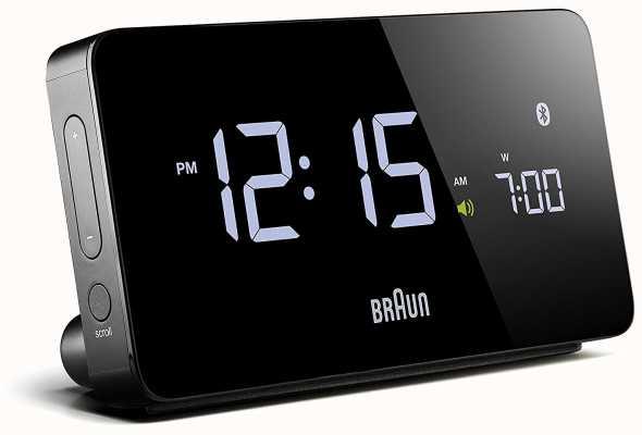 Braun Digital Bluetooth Alarm Clock Black BNC020BK