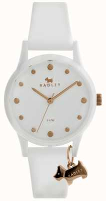 Radley Ladies White 33mm Case White Dial White Silicon Strap RY2638