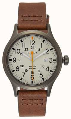 Timex Allied 40 Brown Leather Strap/Natural Dial TW2R46400