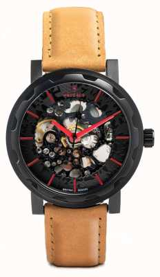 Weird Ape Kolt Automatic Tan Suede Leather Black IP Case WA02-005504