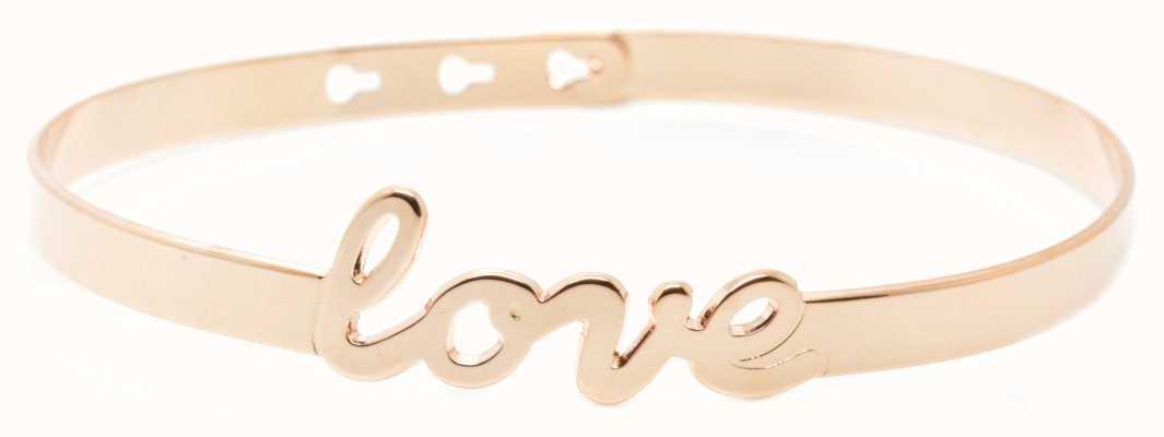 """Mya Bay Rose Gold PVD Plated """"love"""" Bracelet JC-47.P"""
