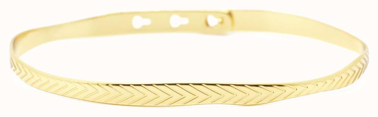 Mya Bay Gold PVD Leaf Texture Bangle JC-55.G