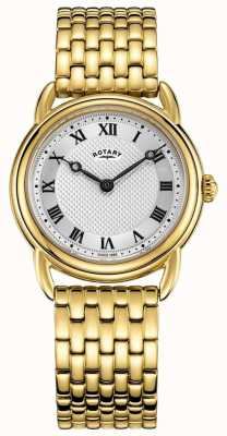 Rotary Women's Canterbury Gold Bracelet Silver Dial watch LB05338/21