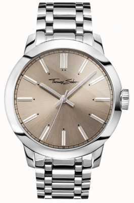 Thomas Sabo Mens Rebel At Heart Watch Stainless Steel Bracelet Grey Dial WA0311-201-214-46