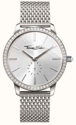 Thomas Sabo Womens Glam And Soul Glam Spirit Watch Silver Mesh Bracelet WA0316-201-201-33