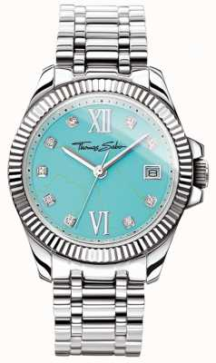 Thomas Sabo Womens Glam And Soul Divine Watch Turquoise Dial WA0317-201-215-33