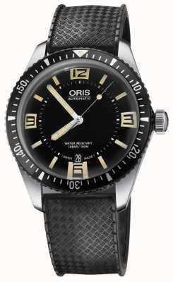 Oris Divers Sixty-five Automatic Rubber Strap Black Dial 01 733 7707 4064-07 4 20 18