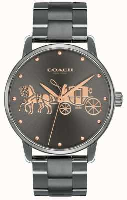 Coach Womens Grand Black Ip Plated Case & Bracelet Rose Gold Print 14502924