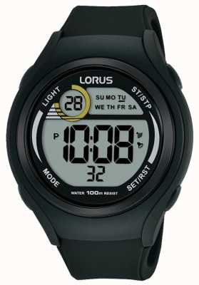 Lorus Unisex Lorus Rubber Digital Sports Watch Black R2373LX9