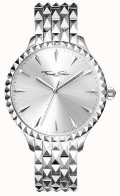 Thomas Sabo Women's Rebel Silver Embossed Bracelet And Case WA0318-201-38