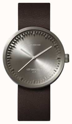Leff Amsterdam Tube Watch D38 Steel Case Brown Leather Strap LT71002