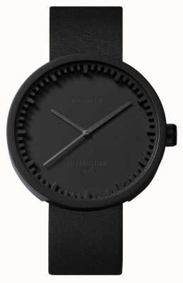 Leff Amsterdam Tube Watch D38 Black Case Black Leather Strap LT71011