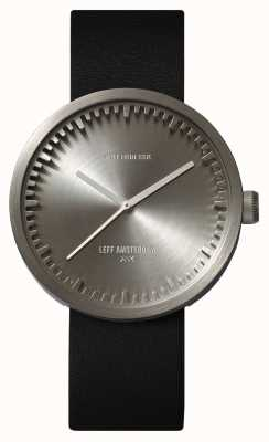 Leff Amsterdam Tube Watch D42 Steel Case Black Leather Strap LT72001