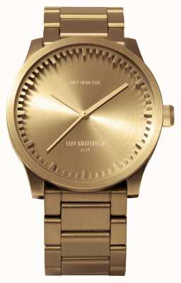 Leff Amsterdam Tube Watch S38 Brass Case Brass Bracelet LT71103