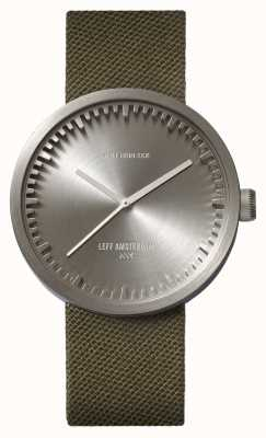 Leff Amsterdam Tube Watch D42 Steel Case Green Cordura Strap LT72004