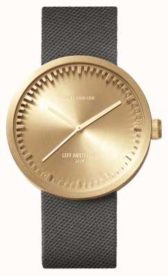 Leff Amsterdam Tube Watch D42 Brass Case Grey Cordura Strap LT72025