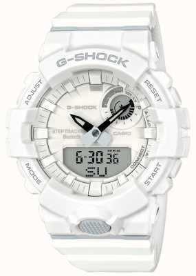 Casio G-Shock Bluetooth Fitness Step Tracker White Strap GBA-800-7AER