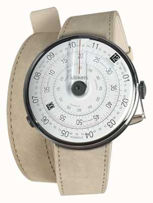 Klokers KLOK 01 Black Watch Head Grey Alcantara Double Strap KLOK-01-D2+KLINK-02-380C6