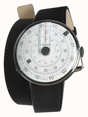 Klokers KLOK 01 Black Watch Head Mat Black 420mm Double Strap KLOK-01-D2+KLINK-02-420C2