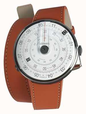 Klokers KLOK 01 Black Watch Head Orange 420mm Double Strap KLOK-01-D2+KLINK-02-420C8