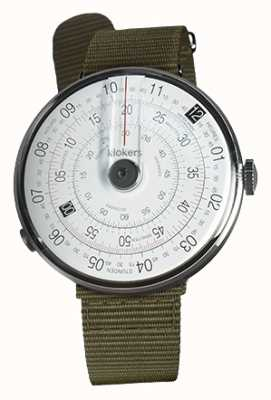 Klokers KLOK 01 Black Watch Head Lichen Green Textile Single Strap KLOK-01-D2+KLINK-03-MC2