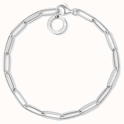 30c5d3de52646 Thomas Sabo 18.5cm Sterling Silver Link Charm Bracelet X0253-001-21-L18