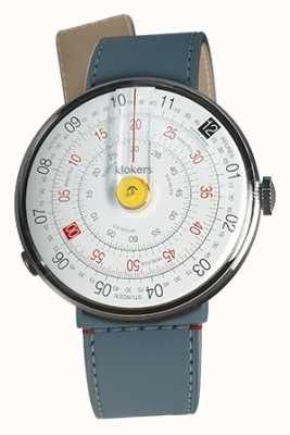 Klokers KLOK 01 Yellow Watch Head Blue Jean Strait Single Strap KLOK-01-D1+KLINK-04-LC10