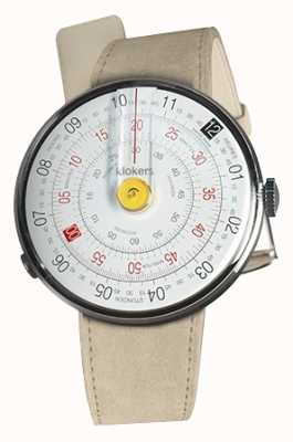 Klokers KLOK 01 Yellow Watch Head Grey Alcantara Single Strap KLOK-01-D1+KLINK-01-MC6