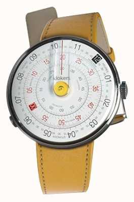 Klokers KLOK 01 Yellow Watch Head Newport Yellow Single Strap KLOK-01-D1+KLINK-01-MC7.1