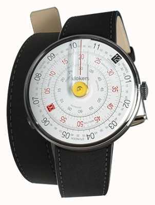 Klokers KLOK 01 Yellow Watch Head Mat Black Double Strap KLOK-01-D1+KLINK-02-380C2
