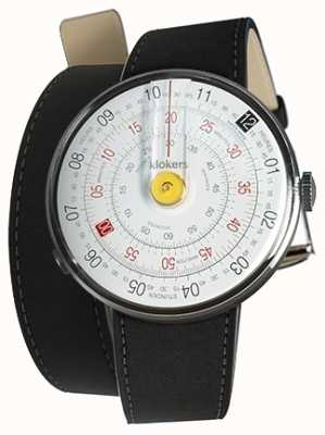 Klokers KLOK 01 Yellow Watch Head Mat Black 420mm Double Strap KLOK-01-D1+KLINK-02-420C2