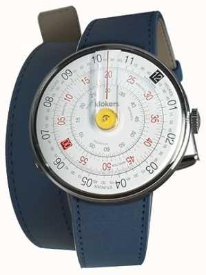 Klokers KLOK 01 Yellow Watch Head Indigo Blue 420mm Double Strap KLOK-01-D1+KLINK-02-420C3