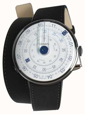 Klokers KLOK 01 Blue Watch Head Mat Black Double Strap KLOK-01-D4.1+KLINK-02-380C2