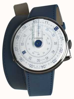 Klokers KLOK 01 Blue Watch Head Indigo Blue 420mm Double Strap KLOK-01-D4.1+KLINK-02-420C3
