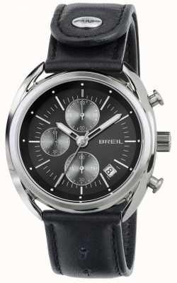 Breil Beaubourg Stainless Steel Chronograph Black Leather Strap TW1527