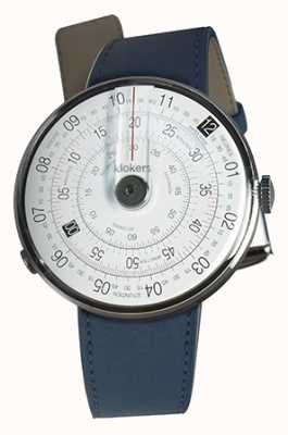 Klokers KLOK 01 Black Watch Head Indigo Blue Single Strap KLOK-01-D2+KLINK-01-MC3