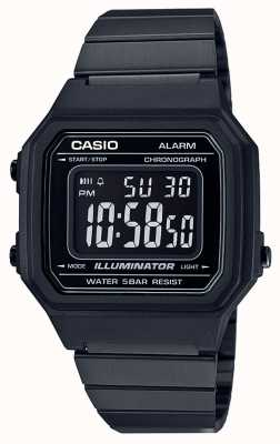Casio Vintage Core Classic Digital Illuminator Black IP Coated B650WB-1BEF