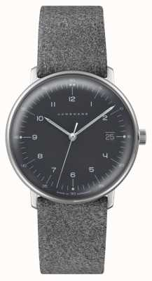 Junghans Max Bill Quartz | Grey Dial | Grey Textured Strap 041/4818.04
