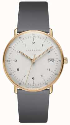 Junghans Max Bill Damen Quartz Grey Leather Watch 047/7854.04