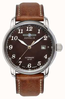 Zeppelin | Series LZ127 | Automatic Date | Brown Leather Strap | 8656-3