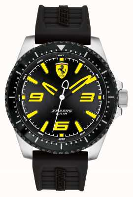 Scuderia Ferrari XX Kers Black Dial Black IP Coated Case Black Rubber Strap 0830487