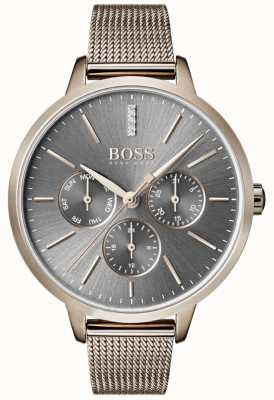 Hugo Boss Symphony Grey Dial Day & Date Mesh Strap 1502424