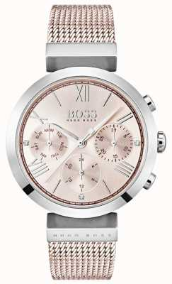 Hugo Boss Chronograph Pink Dial Day & Date Sub Dials 1502426