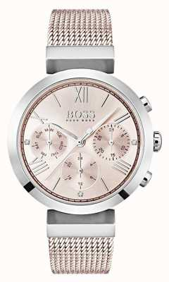 Boss Chronograph Pink Dial Day & Date Sub Dials 1502426