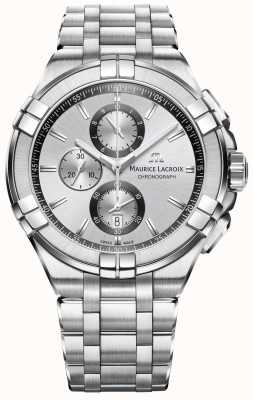 Maurice Lacroix Mens Aikon Stainless Steel Bracelet Silver Dial AI1018-SS002-130-1